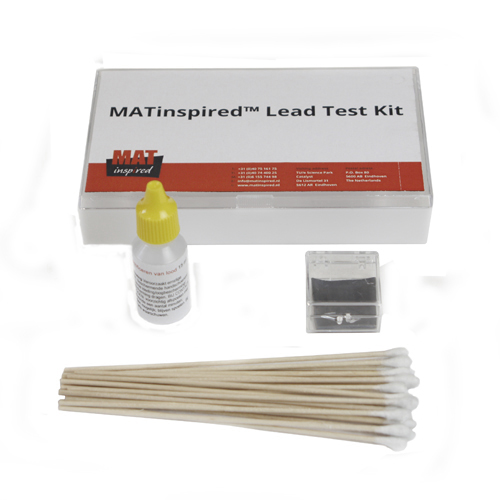 Test kit for paint layers and coatings