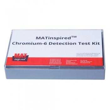 Met deze testkit kunt u testen of er chroom-6 aanwezig is in uw verflaag, coating of vloeistof.