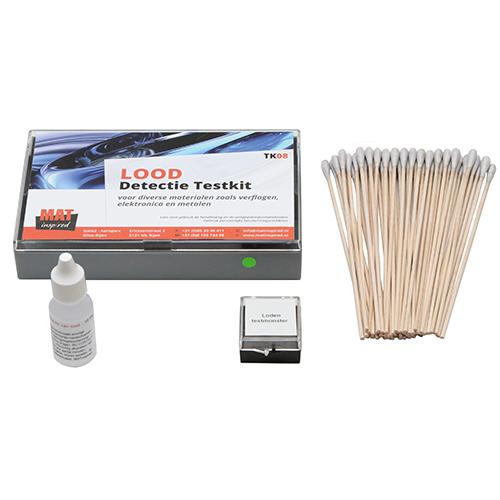 Lood detectie testkit voor het detecteren van lood in materialen zoals metaal, coatings, verflagen en soldeer.